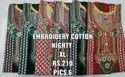 Ladies Embroidery Cotton Nighty