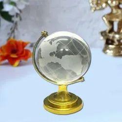 Golden Feng Shui Crystal Globe, For Home