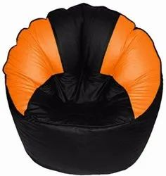 XXXL Black and Orange Muddha Bean Bag