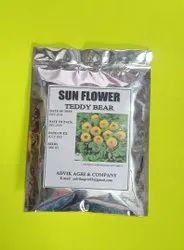 sun flower  taddy bear