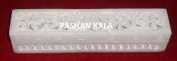 Natural White Marble Pencil Box And Incense Fragrance Box