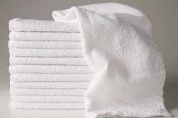 BSPL Plain Hand White Terry Towel, 550-650 GSM, Size: 41 * 64 cm