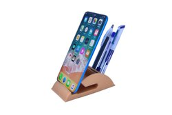 Mobile Stand Holder With Snack and Branding Unit