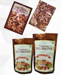 Dry Fruit Printed Three Side Seal Pouches