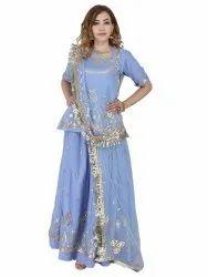 Jaipur Gotta Patti Designer Party Wear Saree, Dry Clean