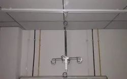 SS Ceiling Mounted IV Pole