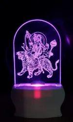 SHAYONA Jay Ambe Ma Color 3D Illusion LED Acrylic Night Lamp