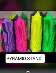 Plastic Multicolor Pyramid Solid Mobile Stand, Size: Medium