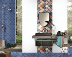 Ceramic Gloss Designer Collection Bathroom Wall Tiles, Size: 30 x 45 cm, Thickness: 5mm