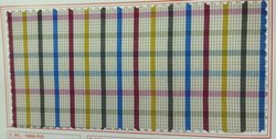 36 Inch Polyester Viscose Oxford Check Fabric