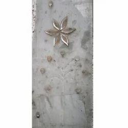 Flower Decorative Glass, Shape: Rectangle
