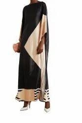 Lounge Wear Long Ankle Length Satin Silk Printed Kaftan