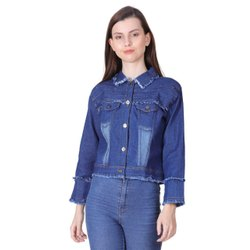 Regular Wear Blue GIRLS JACKET