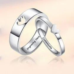 Personalized Heart Promise Couple Ring