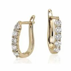Natural Diamond Studded Hoop Diamond Earring