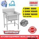 SS Single One Sink For Restaurant Hotel