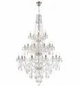Incandescent Bulb Round Glass Ceiling Hanging Led Crystal Chandelier