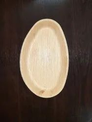 Clearance Sale- Egg Shape Areca Palm Plates 10x6 Inch - Export Rejections- Bulk