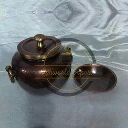 Pan World Round Pure Copper Biryani Handi