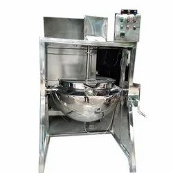 Stainless Steel Semi Automatic Tilting Paste Kettle