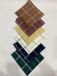 Cotton Printed Check Shirting Fabrics