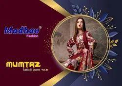 Cotton Multicolor Madhav Fashion Launched Karachi Queen Vol 5, For New