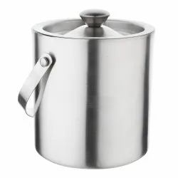 Stainless Steel Double Wall Insulated Ice Bucket 1.5 Ltr With Lid