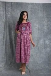 Stitch Ikkat Embroidery Gown