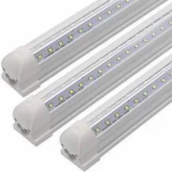 Chrome T8 Integrated LED Tube Light Housing, Lighting Color: Cool White
