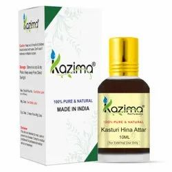 KAZIMA Pure Natural Undiluted Kasturi Hina Attar