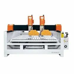 MCS1530-2 Stone Cutting & Engraving CNC Router Machine ( 4 Axis)