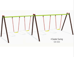 Mild Steel Outdoor 4 Seater Swing
