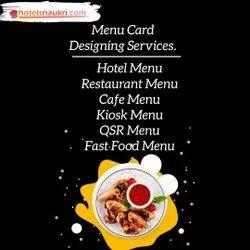 Hotel Menu Card Designing Services