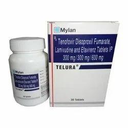 Telura Tablets  ( Tenofovir Disoproxil Fumarate Lamivudine &enfavirenz  )