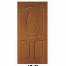 Brown Rectangular Wooden Laminated Door