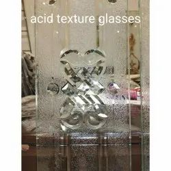 White Acid Texture Glass, For Office, Thickness: 5 Mm