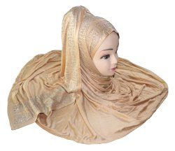 Hosiery Diamond Stone Work Women Hijab Scarf