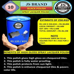 250 Kg Black Spray Lacquer Polish