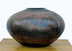 Brown Oval Large Terracotta Planter, For Interior Decor