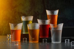 Zooy 6 PCS Beverage Plastic Unbreakable Stylish Transparent Water PET Glass ( Pack Of 6)