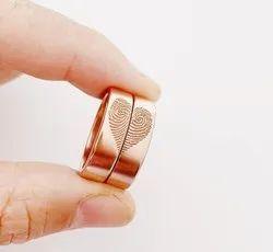 Heart-Shape Fingerprint Ring