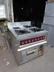 Commercial Gas Range With Oven