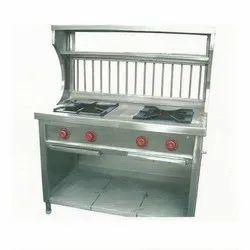 Stainless Steel 2 Burner Counter