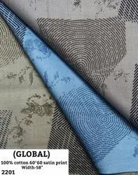 Global 100% Cotton Satin Print Shirting Fabric