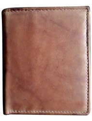 Bi Fold Mens Brown antique Leather Wallet, Card Slots: 7