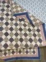 Cotton Handmde Pattern Summer AC Quilt Indian Block Reversible Jaipuri Design