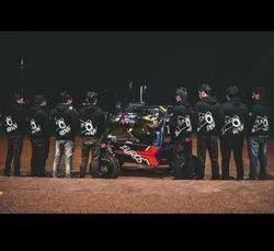 Black,Charcoal COTTON + POLYSTER Men''S Hooded T-Shirt