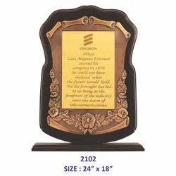 Wooden Copper Frame Memento
