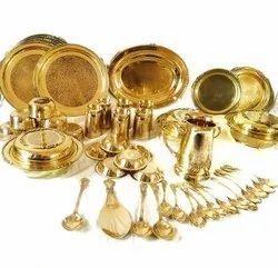 Brass 51 Pieces Dinner Set