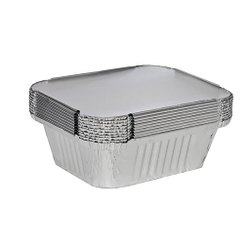 Fraisco Aluminium Foil Containers with Lid (450 ml)